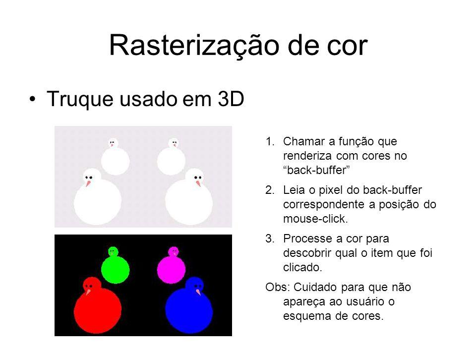 Rasterização de cor Truque usado em 3D