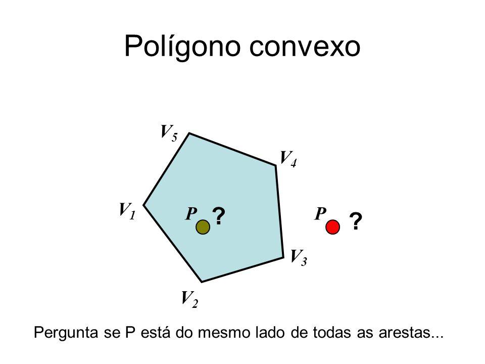 Polígono convexo V5 V4 V1 P V3 V2