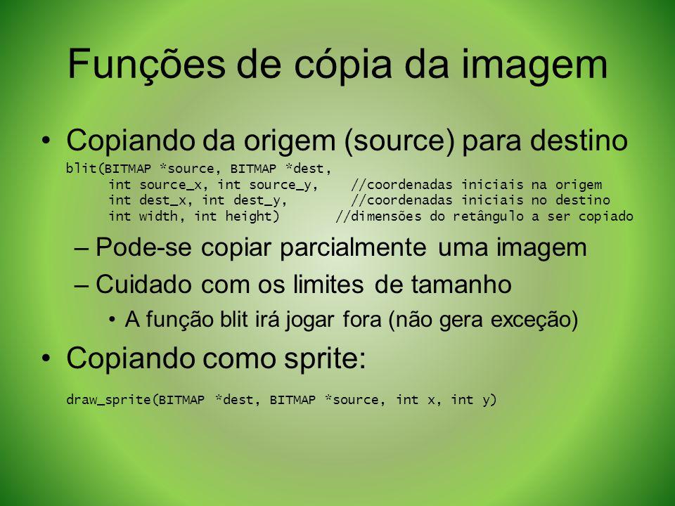 Funções de cópia da imagem