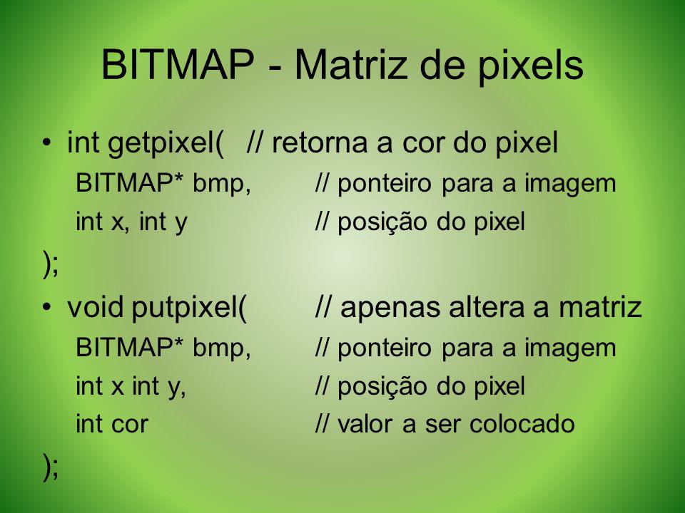 BITMAP - Matriz de pixels