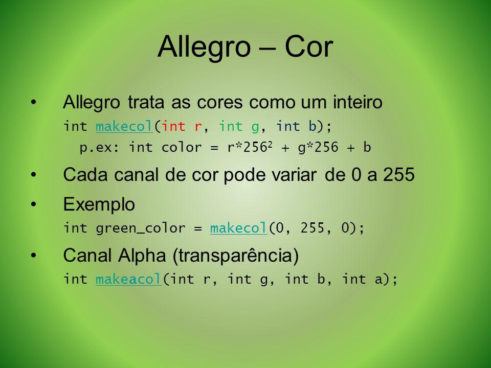 Allegro – Cor Allegro trata as cores como um inteiro