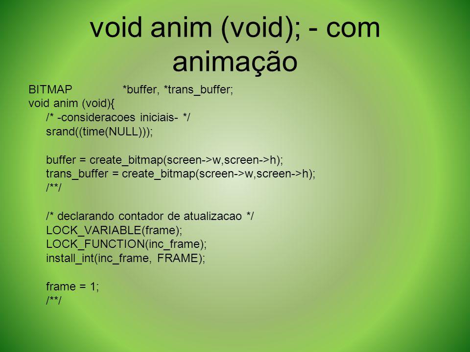 void anim (void); - com animação