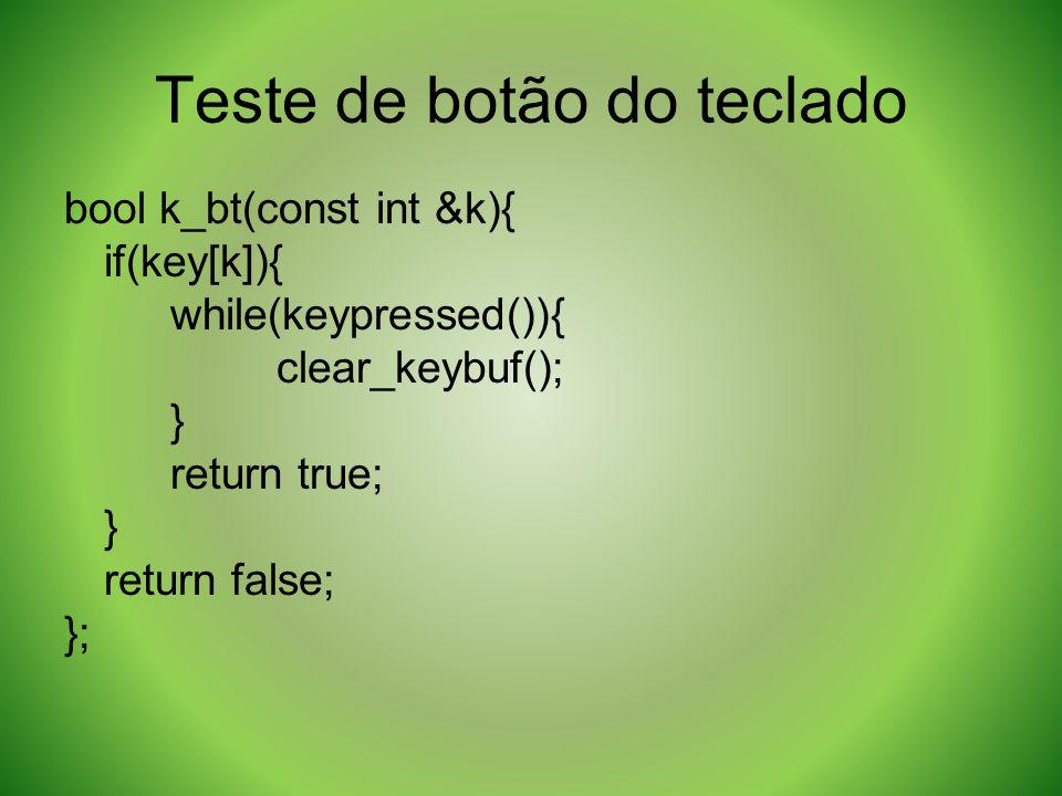 Teste de botão do teclado