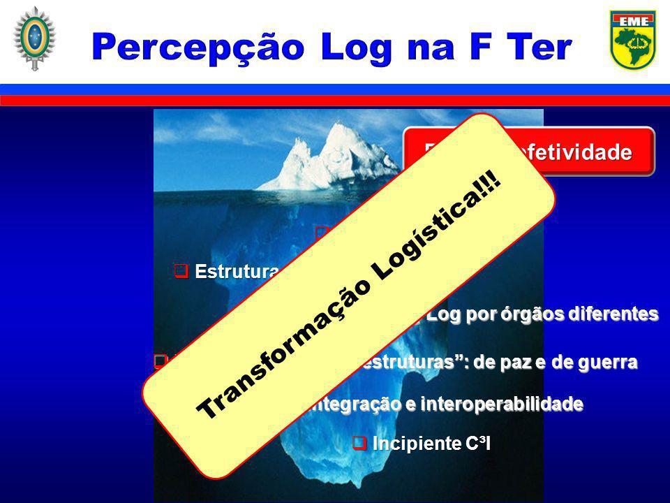 Percepção Log na F Ter Transformação Logística!!! Falta de efetividade