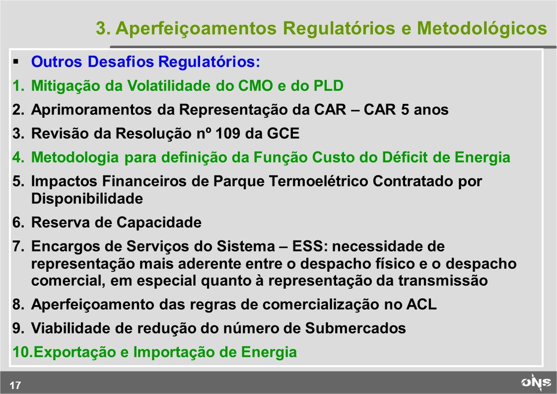3. Aperfeiçoamentos Regulatórios e Metodológicos