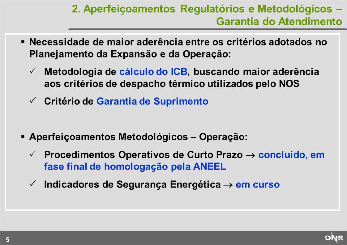 2. Aperfeiçoamentos Regulatórios e Metodológicos – Garantia do Atendimento