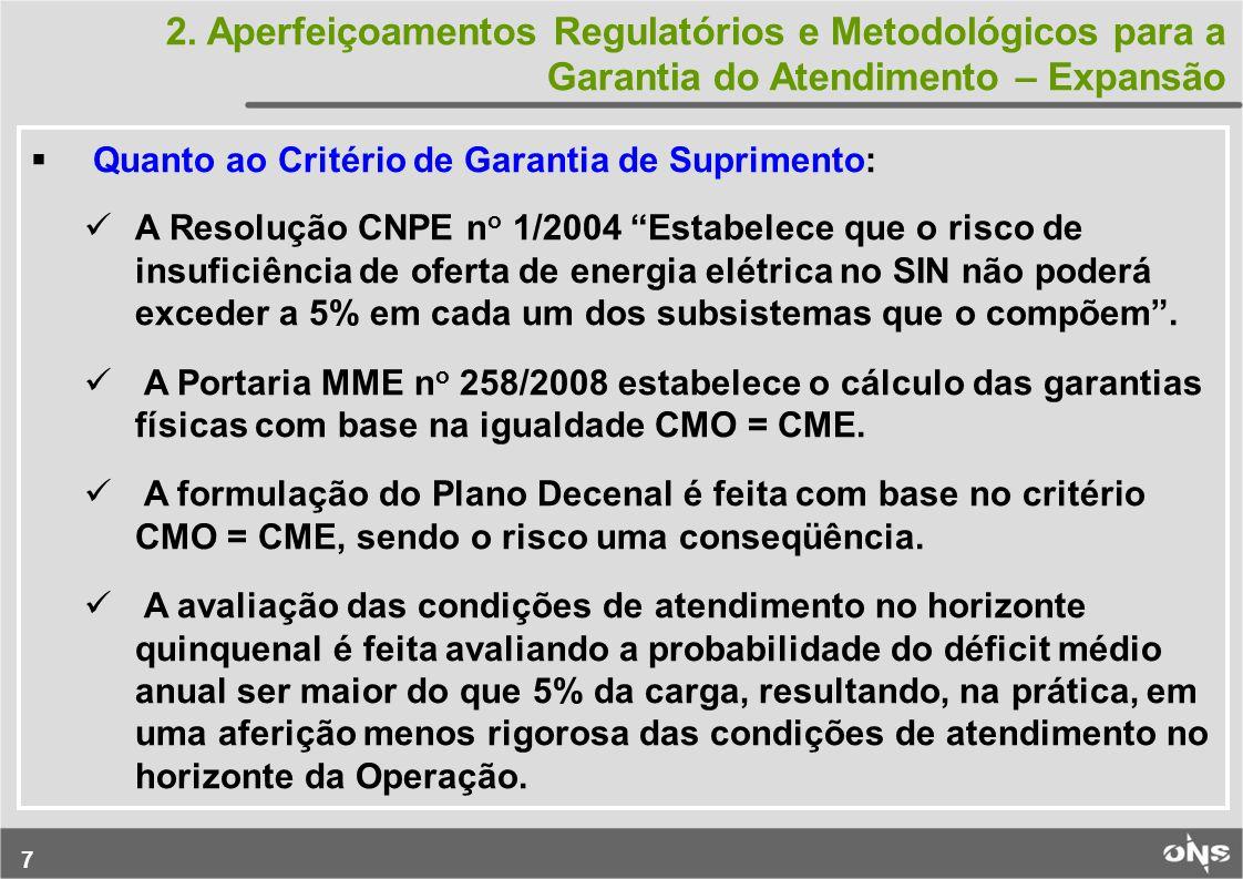 2. Aperfeiçoamentos Regulatórios e Metodológicos para a Garantia do Atendimento – Expansão
