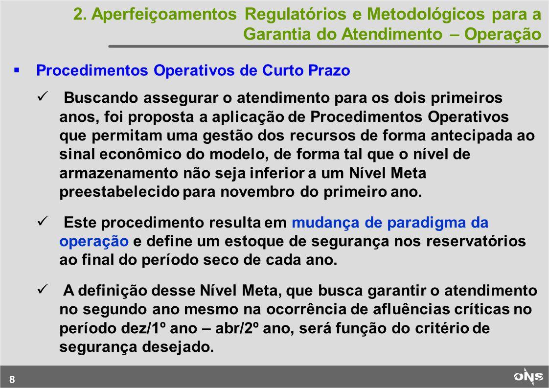 2. Aperfeiçoamentos Regulatórios e Metodológicos para a Garantia do Atendimento – Operação