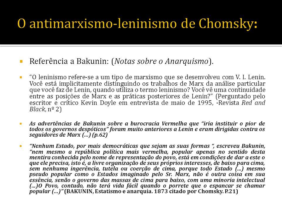 O antimarxismo-leninismo de Chomsky: