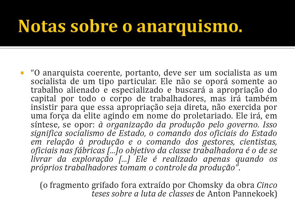 Notas sobre o anarquismo.