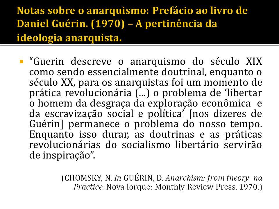 Notas sobre o anarquismo: Prefácio ao livro de Daniel Guérin