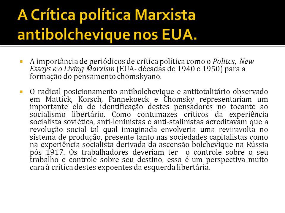 A Crítica política Marxista antibolchevique nos EUA.