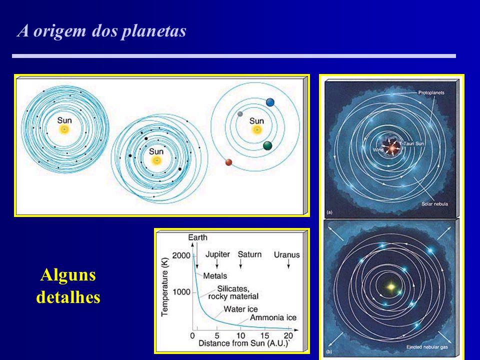 A origem dos planetas Alguns detalhes