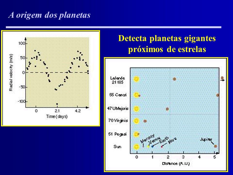 Detecta planetas gigantes próximos de estrelas
