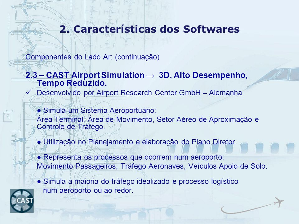 2. Características dos Softwares