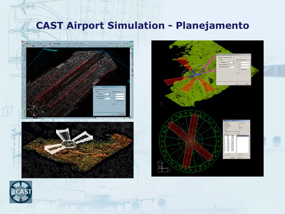 CAST Airport Simulation - Planejamento