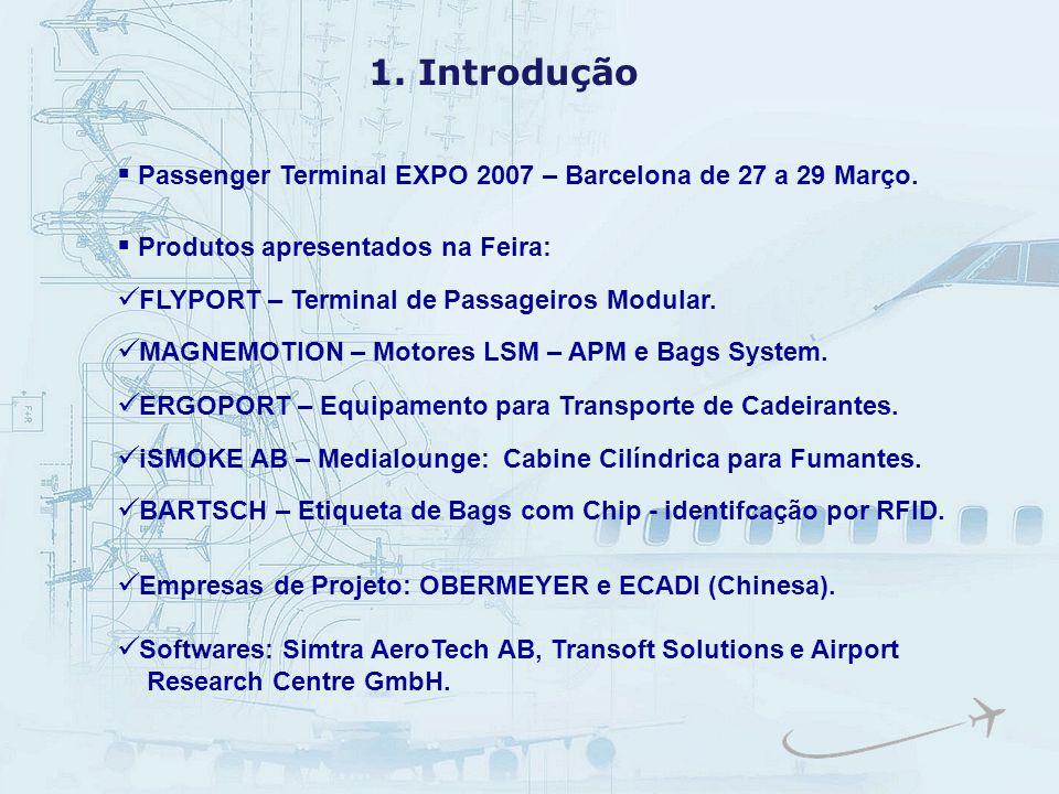 1. Introdução Passenger Terminal EXPO 2007 – Barcelona de 27 a 29 Março. Produtos apresentados na Feira: