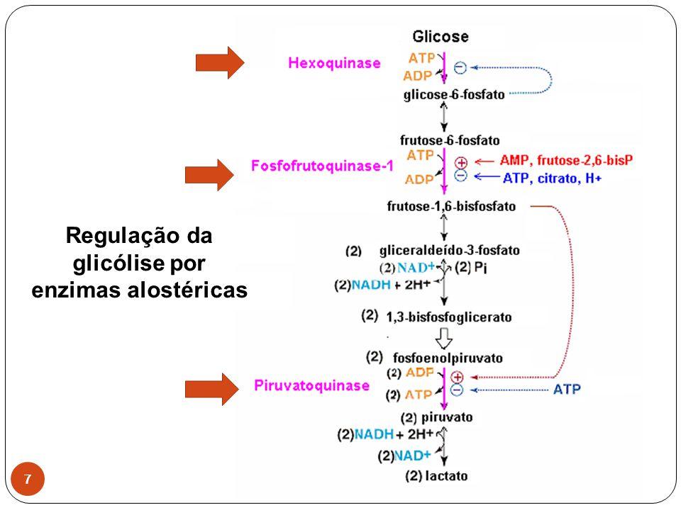Regulação da glicólise por enzimas alostéricas