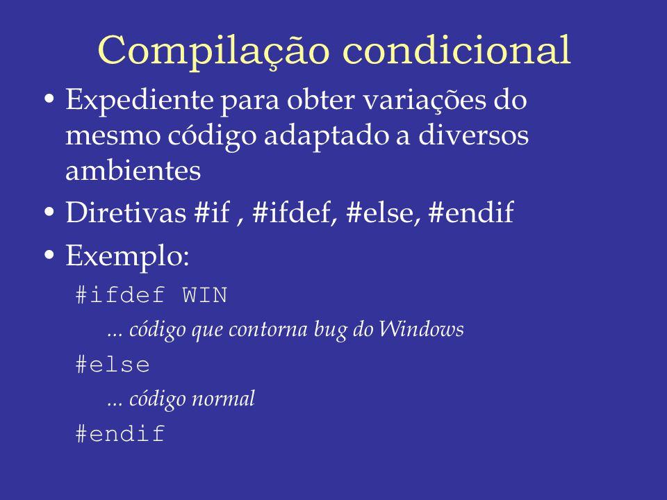 Compilação condicional