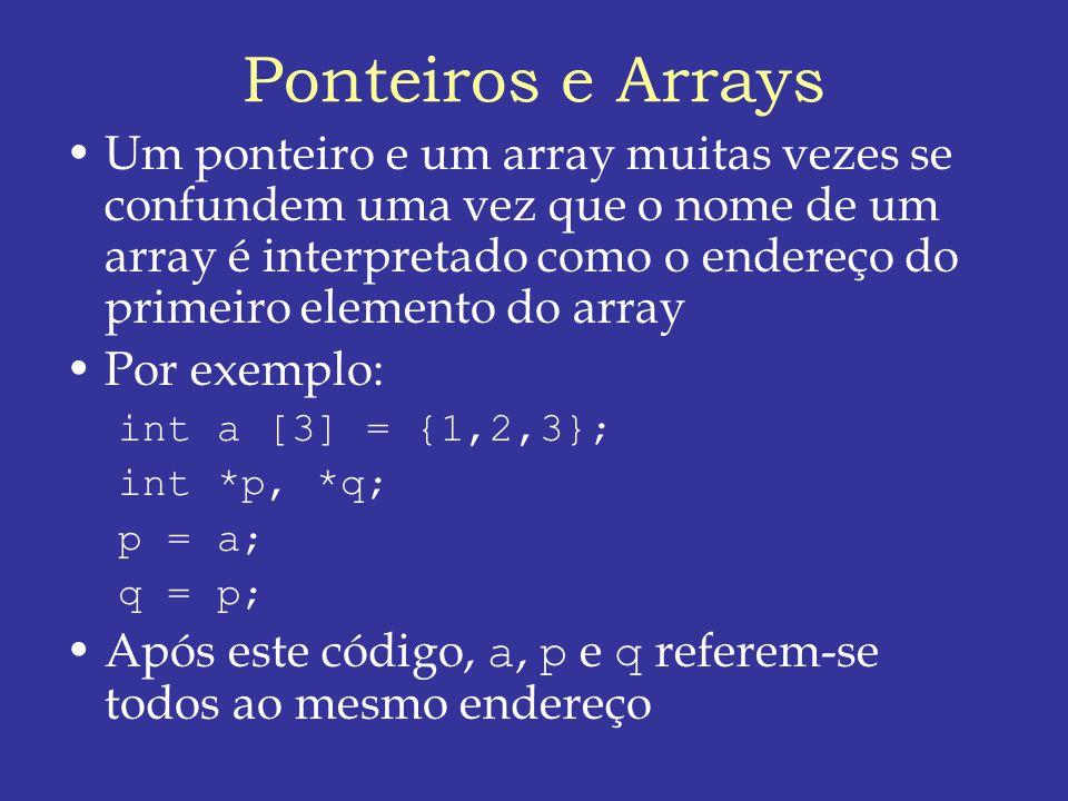 Ponteiros e Arrays