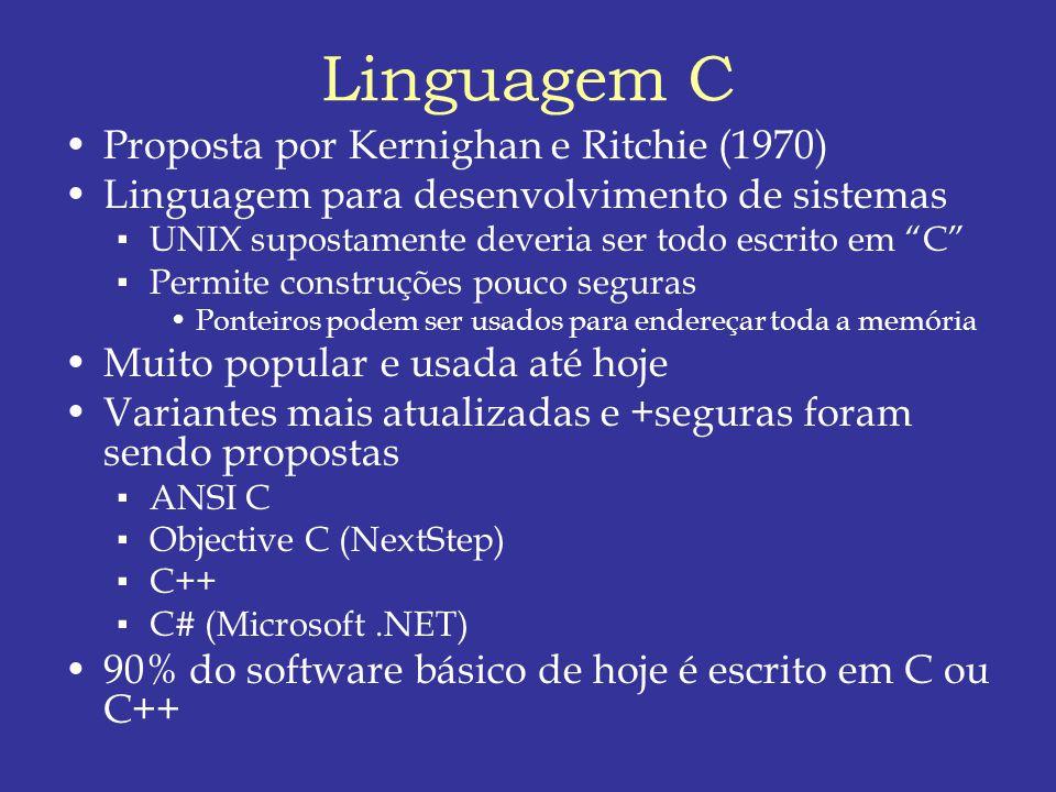 Linguagem C Proposta por Kernighan e Ritchie (1970)