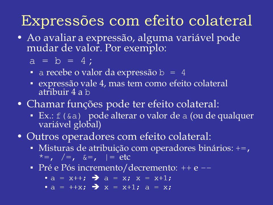 Expressões com efeito colateral