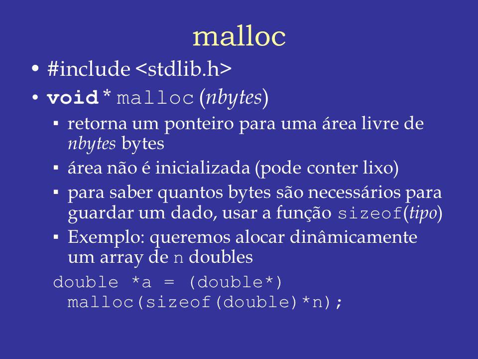 malloc #include <stdlib.h> void * malloc (nbytes)