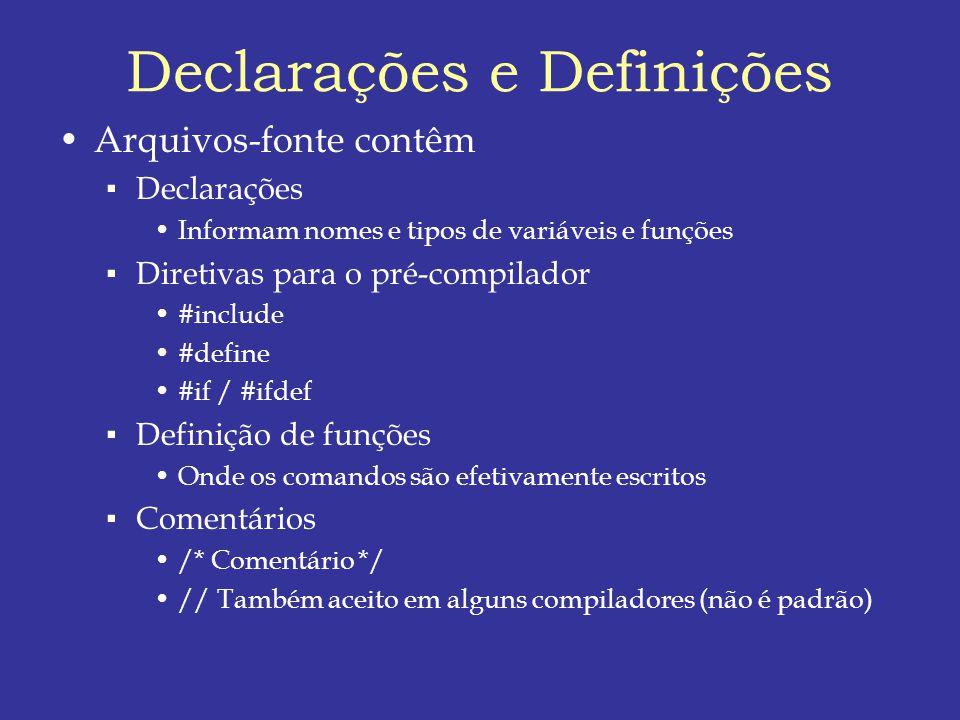 Declarações e Definições