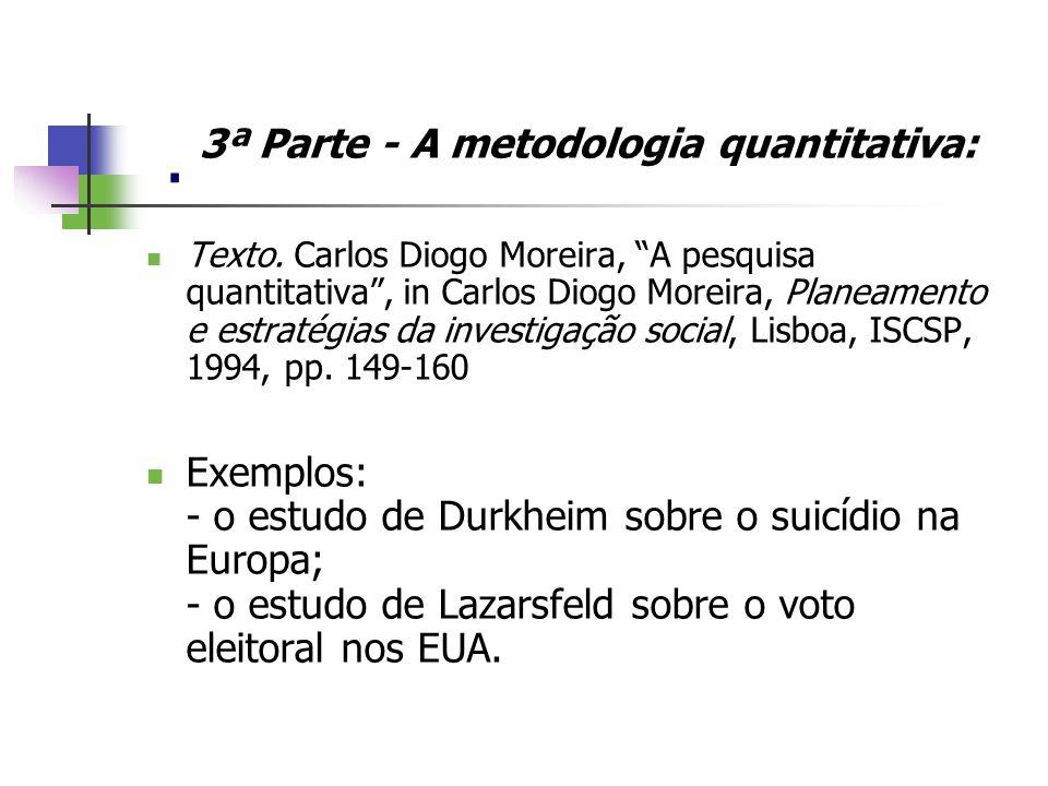 . 3ª Parte - A metodologia quantitativa: