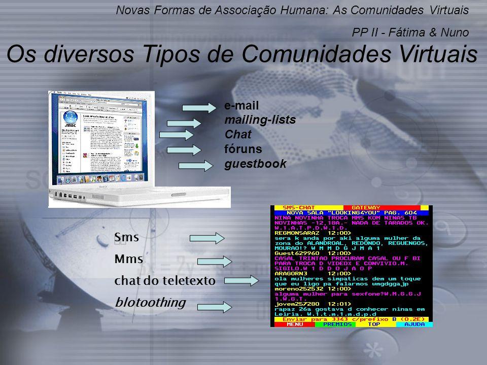 Os diversos Tipos de Comunidades Virtuais