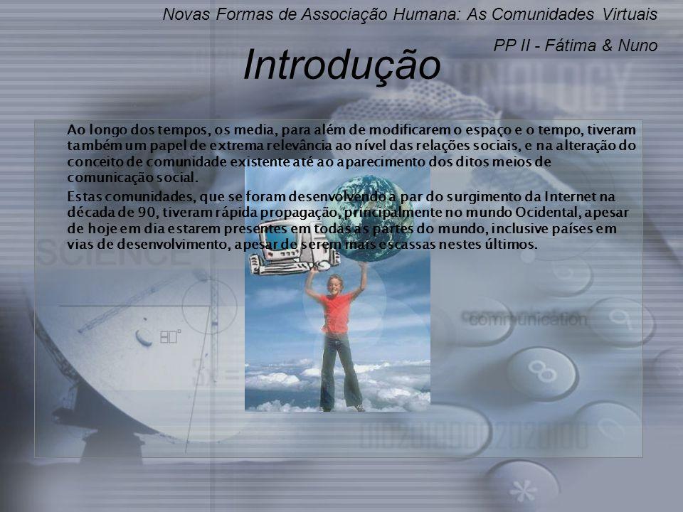 Introdução Novas Formas de Associação Humana: As Comunidades Virtuais