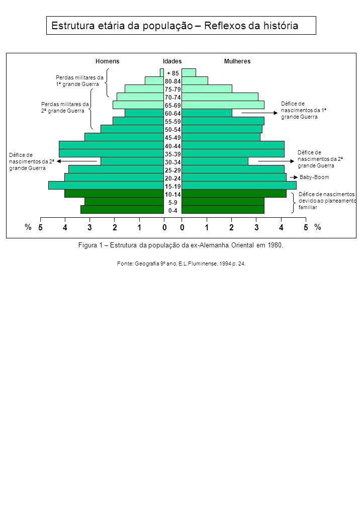 Estrutura etária da população – Reflexos da história
