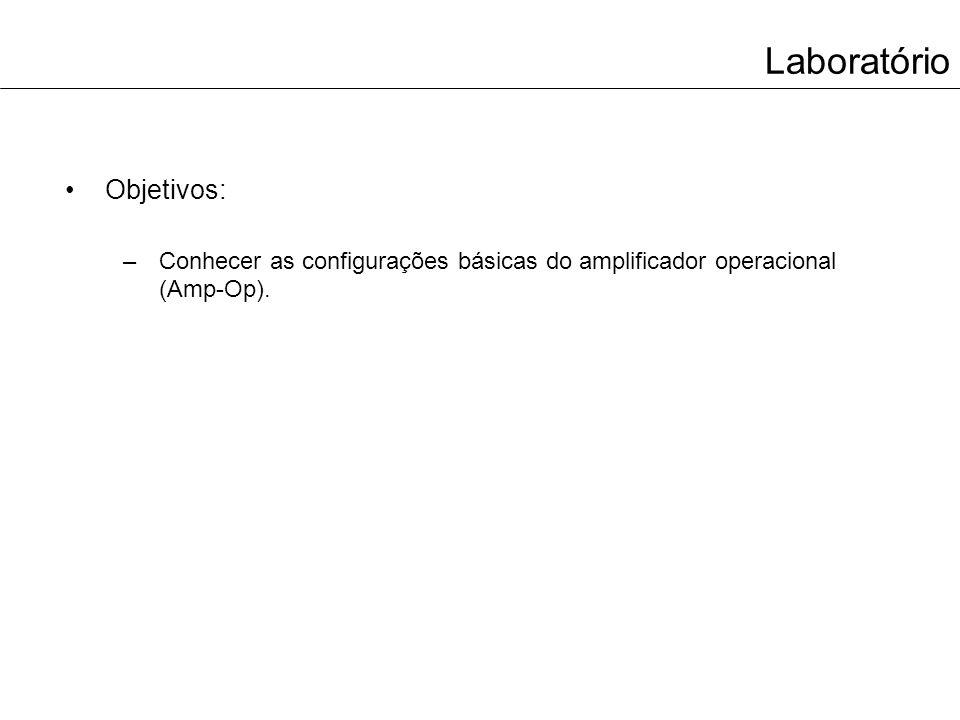 Laboratório Objetivos:
