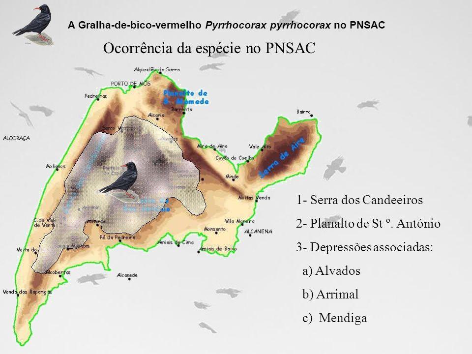 Ocorrência da espécie no PNSAC