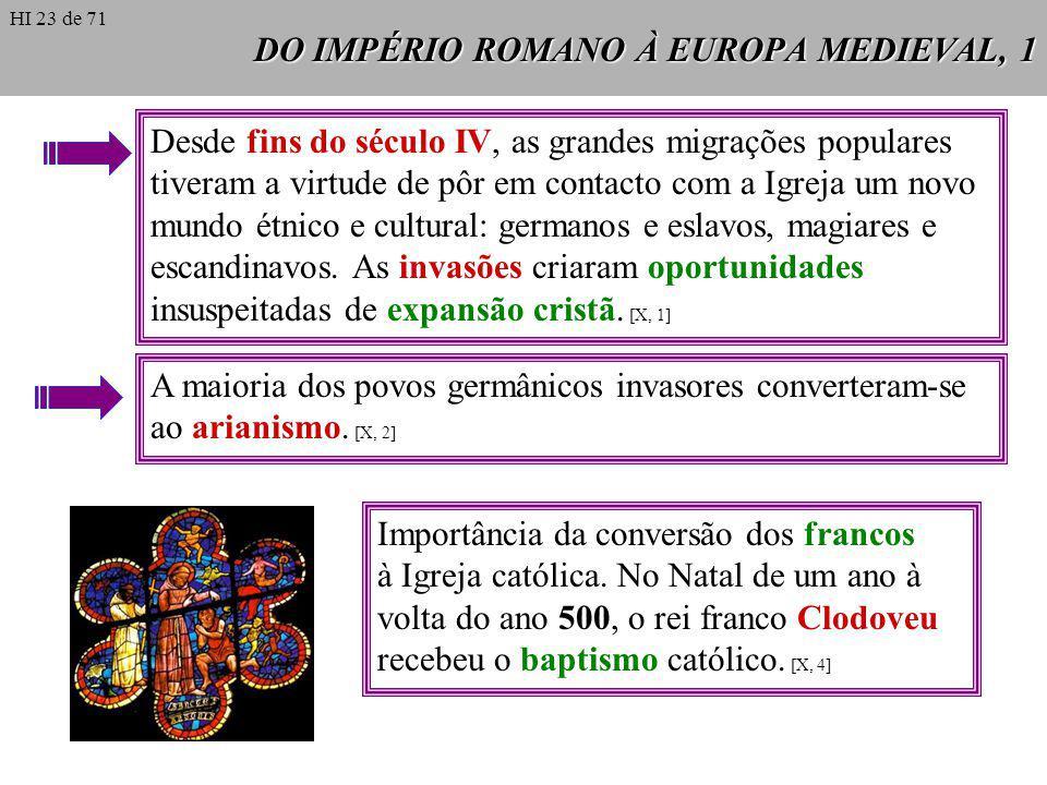DO IMPÉRIO ROMANO À EUROPA MEDIEVAL, 1