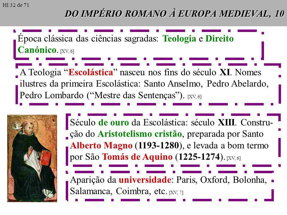 DO IMPÉRIO ROMANO À EUROPA MEDIEVAL, 10