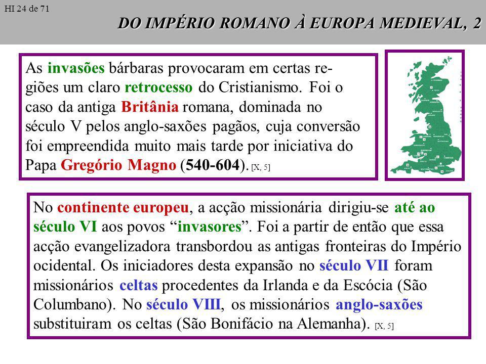 DO IMPÉRIO ROMANO À EUROPA MEDIEVAL, 2