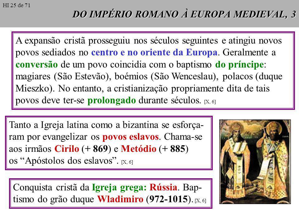 DO IMPÉRIO ROMANO À EUROPA MEDIEVAL, 3