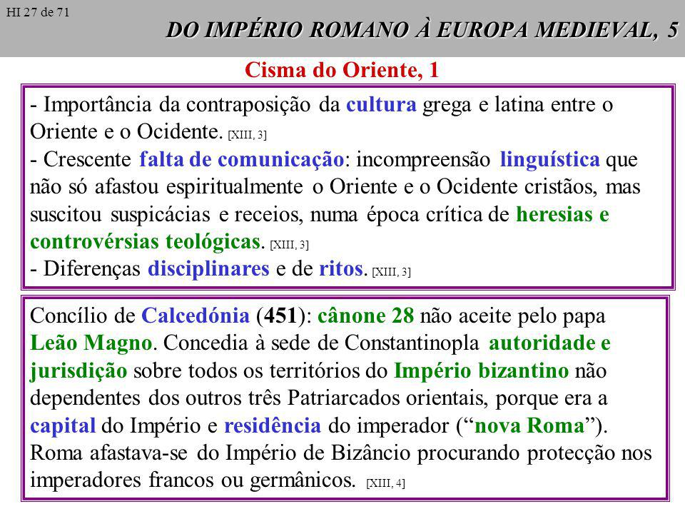 DO IMPÉRIO ROMANO À EUROPA MEDIEVAL, 5