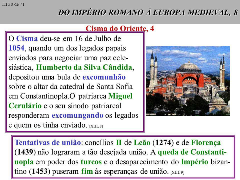 DO IMPÉRIO ROMANO À EUROPA MEDIEVAL, 8