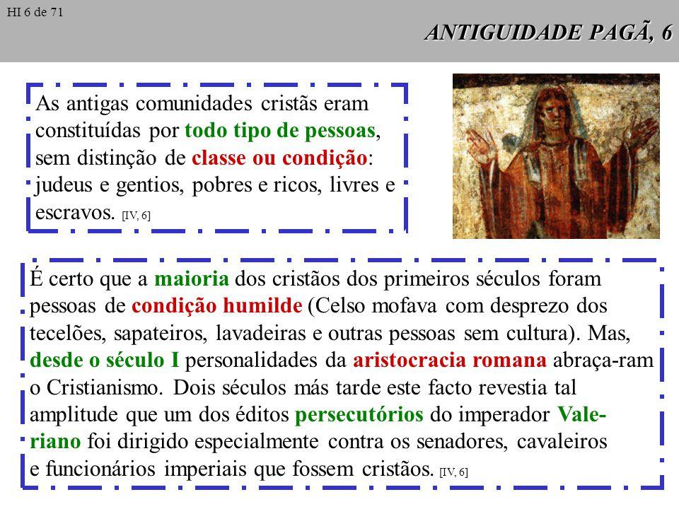 As antigas comunidades cristãs eram