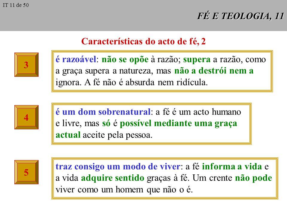 Características do acto de fé, 2