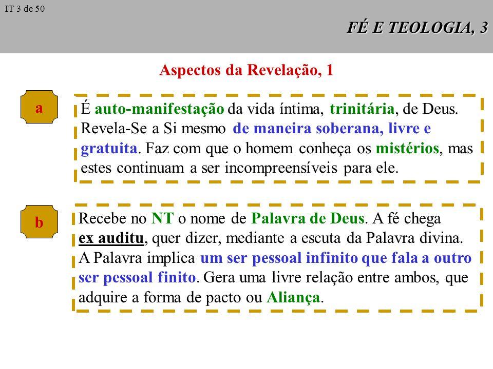 Aspectos da Revelação, 1 a b