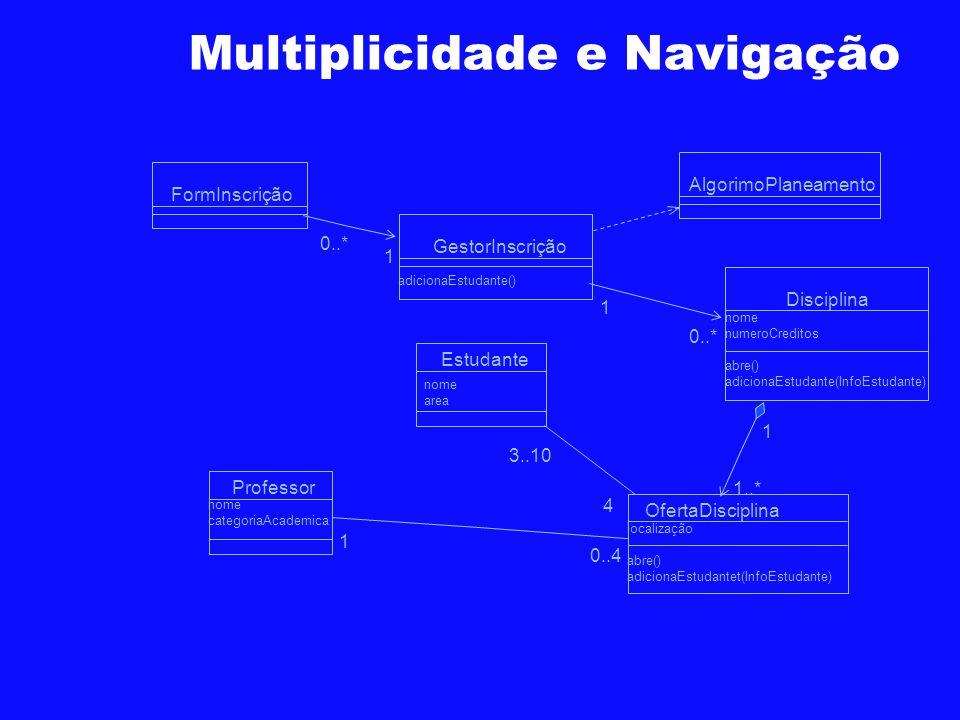 Multiplicidade e Navigação