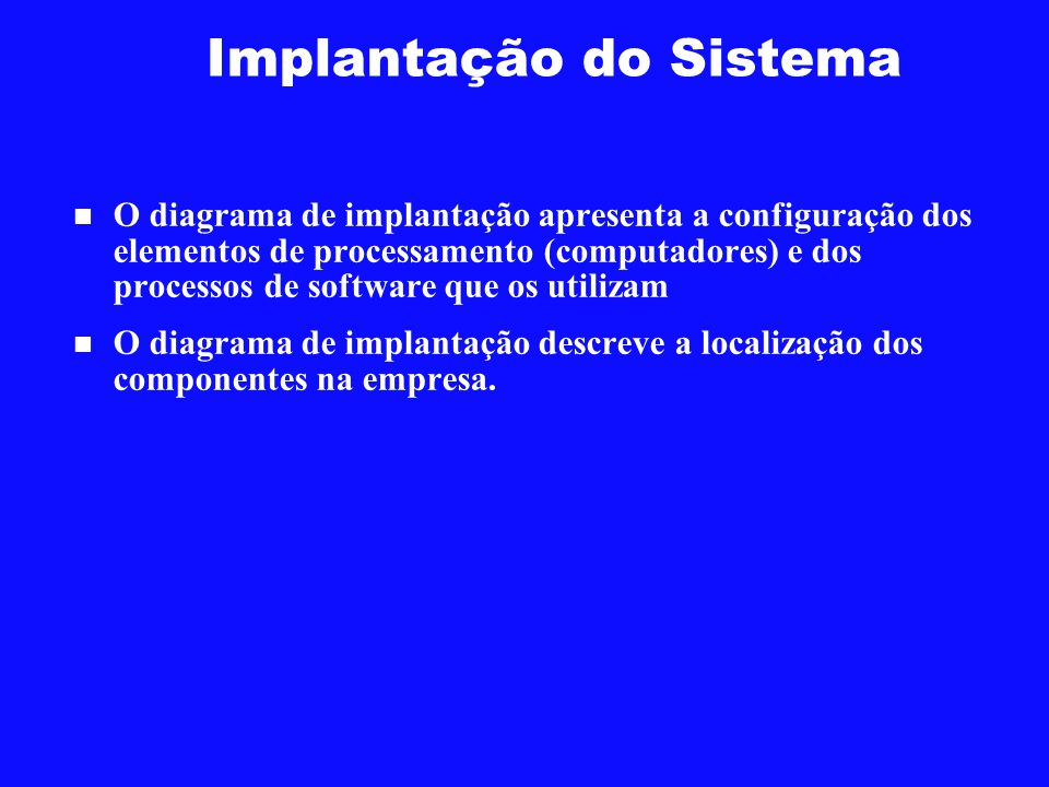 Implantação do Sistema