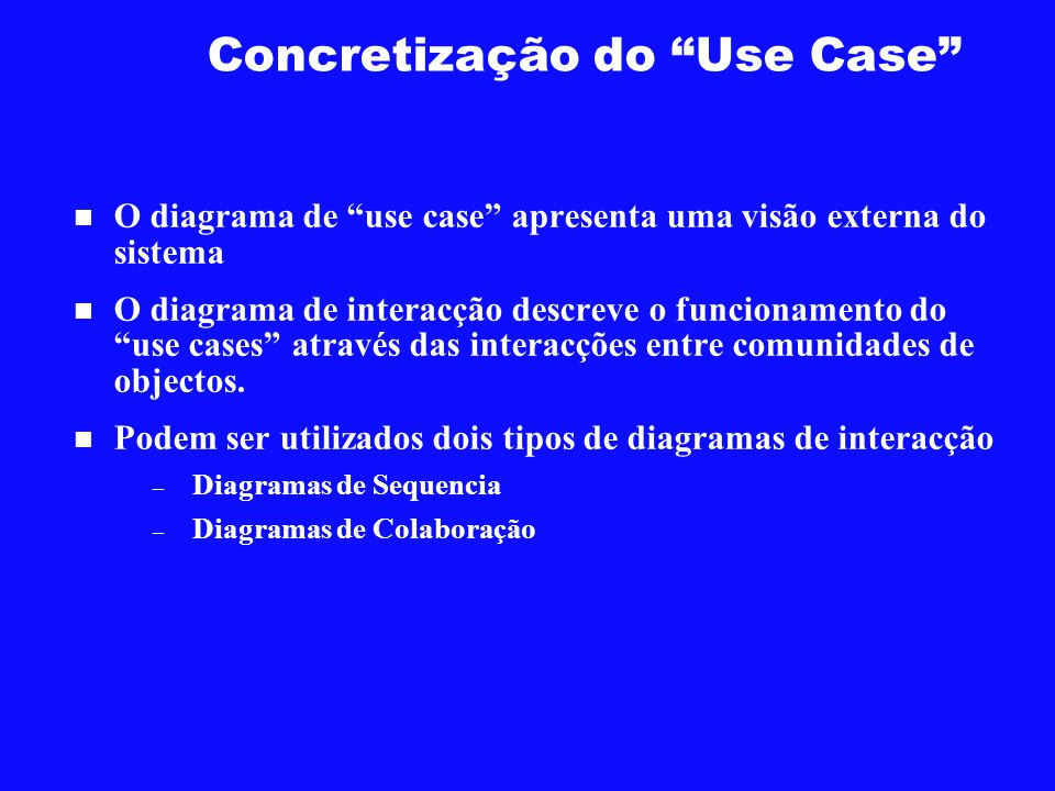 Concretização do Use Case