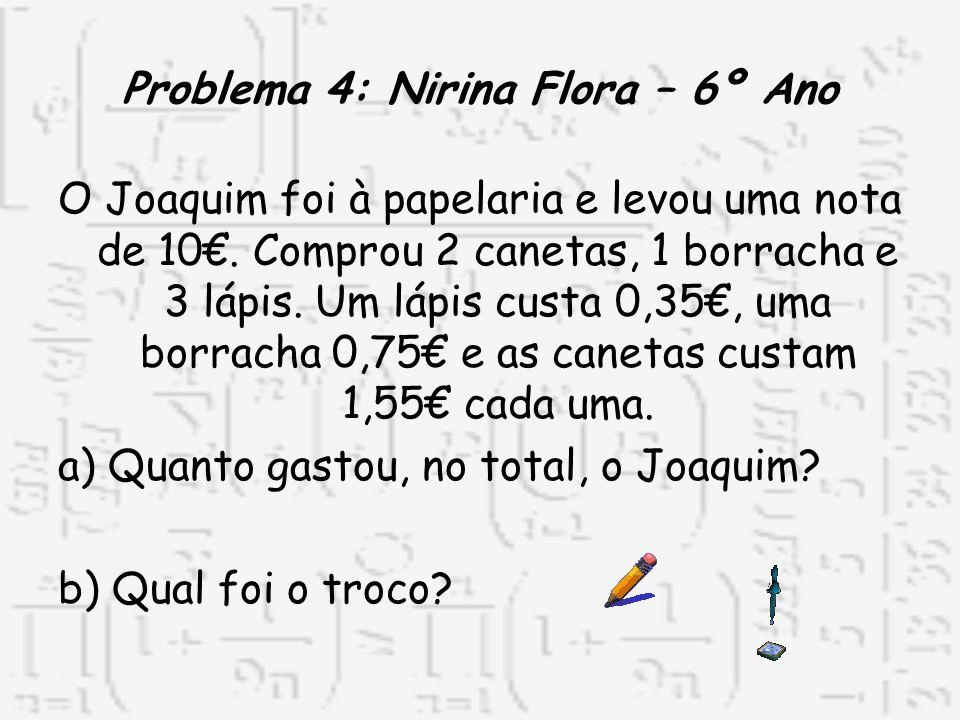 Problema 4: Nirina Flora – 6º Ano