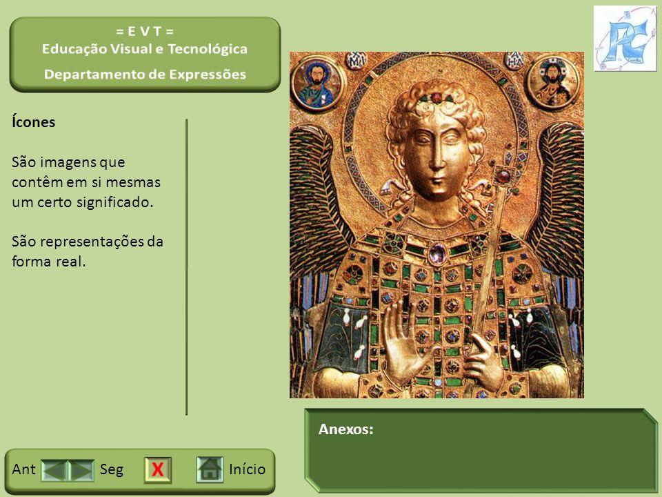 Ícones São imagens que contêm em si mesmas um certo significado. São representações da forma real.