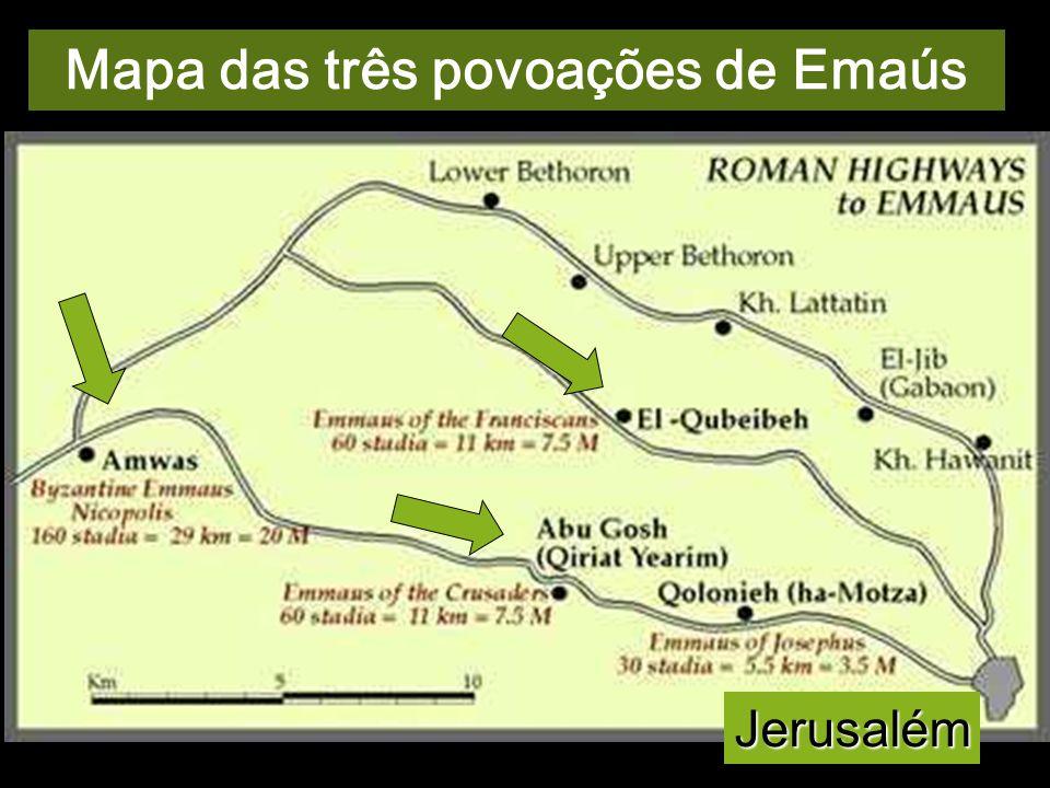 Mapa das três povoações de Emaús