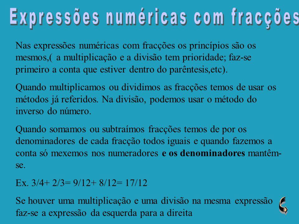 Expressões numéricas com fracções